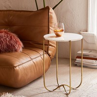 Annette Marble Side Table | Urban Outfitters