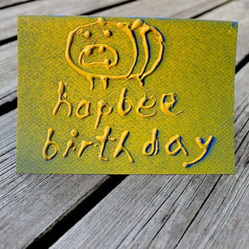 Greeting card A6 - Worst bee pun ever - birthday card
