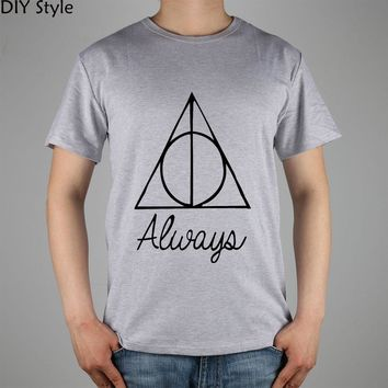 Harry Potter Always Movies t-shirt Cotton Lycra Top 11039 Fashion Brand T Shirt Men New Diy Style High Quality