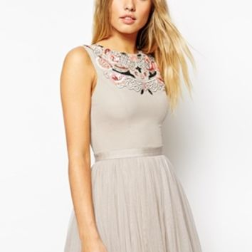 Needle & Thread Embellished Folk Prom Midi Dress at asos.com