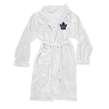 Toronto Maple Leafs Team Logo NHL Silk Touch L/XL Mens Bath Robe