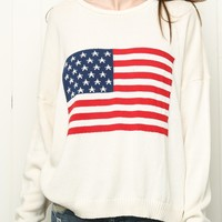 GLORY AMERICAN FLAG SWEATER