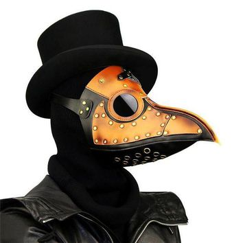 Takerlama Vintage Steampunk Plague Doctor Masks Pu Leather Birds Beak Masks Gothic Masquerade Ball Masks Halloween Cosplay Props - Beauty Ticks