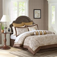 Madison Park Augustina 12-pc. Reversible Bed Set (Brown)