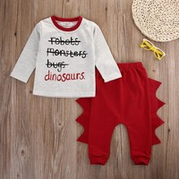 2016 New Baby Clothes Set Toddler Infant Baby Kids Boy Girl Clothes Long Sleeve T-shirt+Pant Legggings Outfits Set Costume