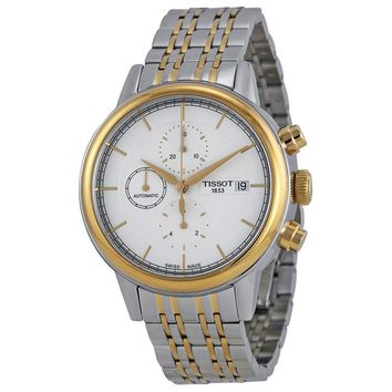 Tissot Carson Automatic Chronograph White Dial Two-tone Mens Watch