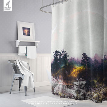 Nature Art Shower Curtain | Wanderlust Bath Curtain | Bohemain Home Decor | Dorm Room | Colorful | Outdoors | Boho Unique Gift | Photography