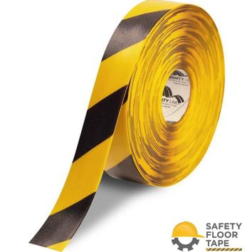 """2"""" Yellow Floor Tape with Black Chevrons - 100'  Roll"""