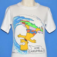 80s Bart Simpson Aye Carumba Surfing t-shirt Youth Large