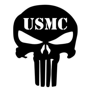 USMC SKULL Skeleton Decal