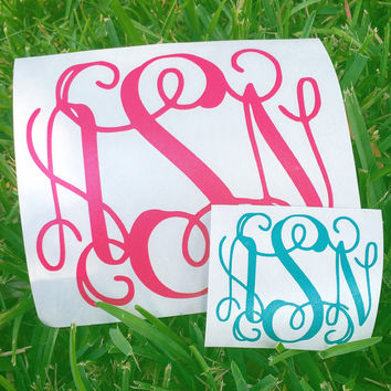 Monogram decal- you choose your size