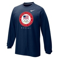 Nike USA Sochi Classic Long Sleeve T-Shirt - Navy Blue