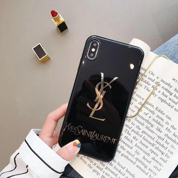 YSL Cover Case for iPhone 8 iPhone 8 Plus iPhone X iPhone XS iPhone XS MAX iPhone XR
