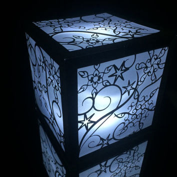 snowflake winter wedding lantern luminary centerpiece cut paper frozen lighted walkway christmas