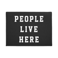 Captain Obvious - People Live Here Doormat