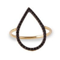 Black Diamond Ring, 14K Yellow Gold, Stone & Novelty Rings