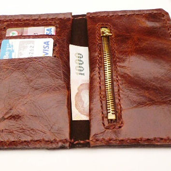 Brown balong leather mans wallet