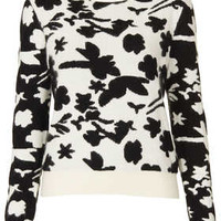Knitted Flower Shadow Jumper - Knitwear  - Clothing