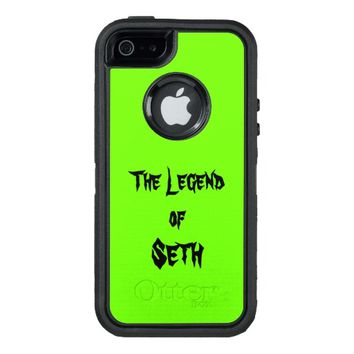 The Legend Of Add Your Name Lime Green OtterBox Defender iPhone Case