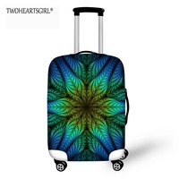 TWOHEARTSGIRL Beautiful Design Travel Luggage Cover Flower Pattern Good Quality 20,22,24,26,28 inch for Suitcase Baggage Cover
