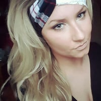 Black, Red, White Plaid Tartan and Lace Twist headband