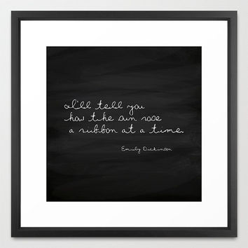 Typography Print - Emily Dickinson Quote -  The Sun Rose - Black and White - Chalkboard Print - Inspirational - Cottage Chic - Beach Decor