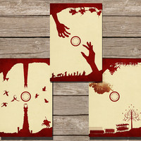 Lord of the Rings Minimalist Print, Set of 3