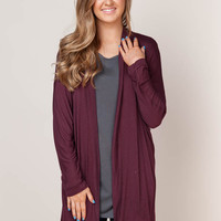 Feel the Fall Maroon Cardigan