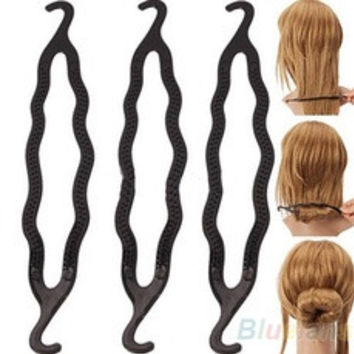 New 5pcs Hair Twist Styling Clip Stick Bun Maker Braid Tool Hair Accessories , hair styling maker, hair holder [7897323591]