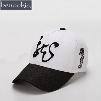 BBS133 Men Snapback Hat Women Cotton Adjustable Baseball Caps 3D Chinese Character Dragon Embroidery Dad Hat Casquette Gorras