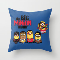 The Big Minion Theory Throw Pillow by Donnie