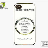 Pierce The Veil Song Lyrics iPhone 4S Case Cover by Avallen