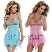 Sexy Underwear Fashion Sexy Lingerie Hot Lady's Diaphanous Pajama Lace Skirt Sexy Sleepwear Plus Size lingerie M -3XL 4XL 5XL = 1958556228