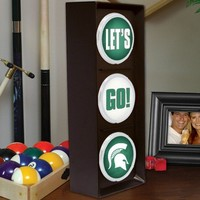 Michigan State Spartans Flashing Let's Go Light