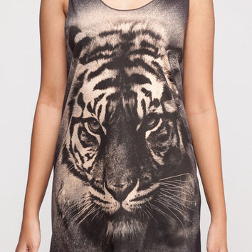 Tiger Shirt Bengal Siberian Wildlife Animal Shirt Women Tank Top Black Shirt Tunic Top Vest Sleeveless Women T-Shirt Size S M