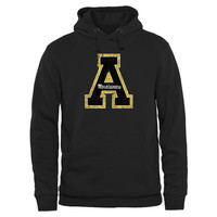 Appalachian State Mountaineers Distressed Secondary Pullover Hoodie - Black