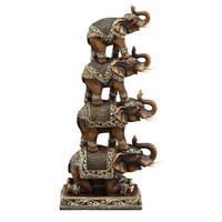 Bohemian Stacked Elephant Sculpture