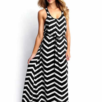 Zig Zag Maxi Dress - On Sale