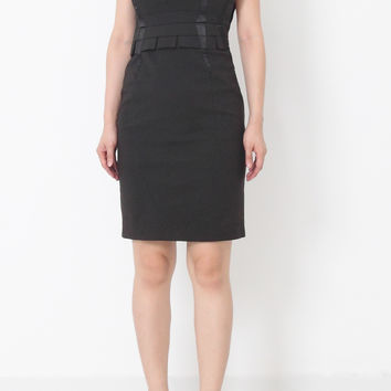 MILLY Fitted Black Dress