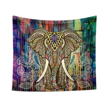 Yoga mat bedding Home textile decoration elephant tapestry wall hangings carpet carpets Home decoration for bedroom living room