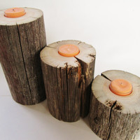 Lake House Decor, Set of 3, Reclaimed Candle Holder, Tiered Candle Holder, Beach Wedding Decor