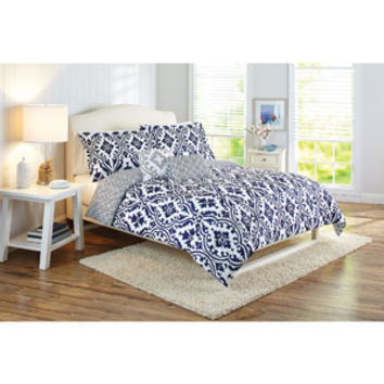 Walmart: Better Homes and Gardens Indigo Scrollwork 5-Piece Bedding Comforter Set
