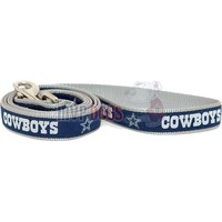 Dallas Cowboys NFL Woven Ribbon Dog Leash