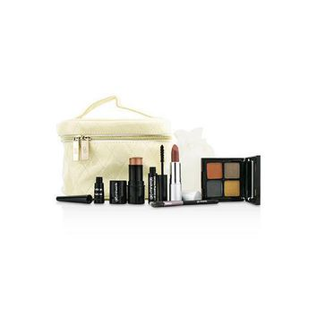 Keepsake Collection Train Case (Color Stick+Mini Mascara+Eye Shadow Quad+Eyeliner+Lipstick+Mini Eye Brush+Case) 6pcs+1case