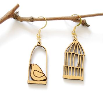 Bird out of the cage- earrings