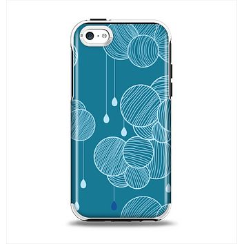The Teal Abstract Raining Yarn Clouds Apple iPhone 5c Otterbox Symmetry Case Skin Set