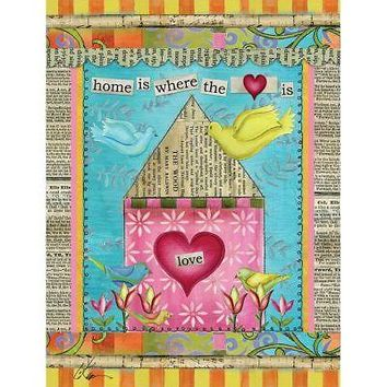Wells Street by Lang Home Is Where The Heart Is Large Flag by Lisa Kaus, 28 x 40