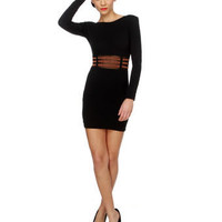 Motel Estelle Dress - Black Dress - Glitter Dress - $79.00
