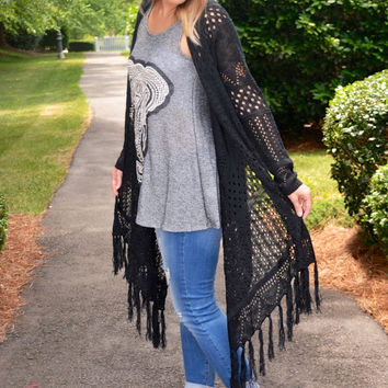 By the Fireside cardigan, black
