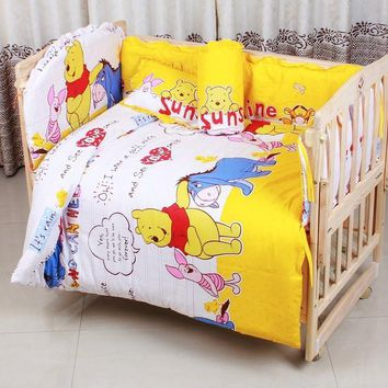 6PCS Bear Embroidered Bedding Sets